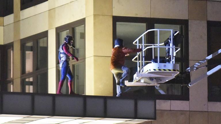 Spider-Man in Berlin gesichtet