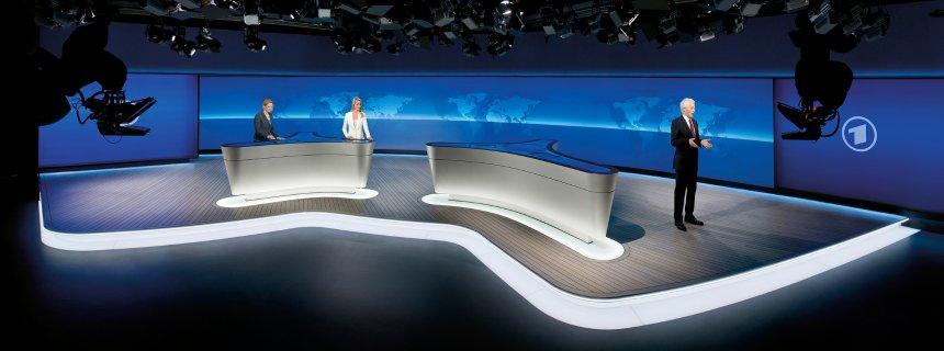 Tagesschau aus neuem Fernsehstudio